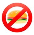 Unhealthy food hamburger vector image vector image