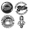 vintage pins production emblems vector image vector image