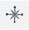 wind rose concept linear icon isolated on vector image