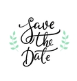 Save the date lettering decor vector image