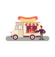 food truck ordering vector image