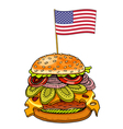 hamburger with cheese vector image