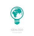 Save the Earth logo or icon ECO or logotype vector image
