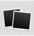 set of template photo frames with shadow on vector image