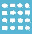 empty talk bubble set vector image