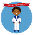 african child celebrating his communion vector image vector image