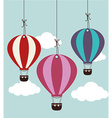 Airballoon design over cloudscape background vector image vector image