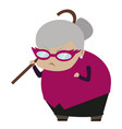 angry grandmother vector image