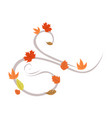 autumn wind leaf symbol background graphic design vector image vector image