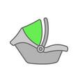 baby car seat color icon vector image