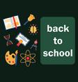 back to school horizontal banner vector image vector image