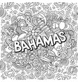 bahamas hand drawn cartoon doodles vector image