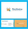 basket logo design with tagline front and back vector image vector image