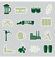 beer stickers set eps10 vector image vector image