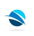 blue planet sliced logo template design vector image vector image