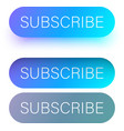 blue subscribe web buttons isolated on white vector image vector image