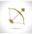 bow and arrow icon Eps10 vector image vector image