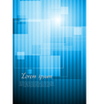 Bright blue hi-tech design vector image vector image