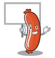 bring board sausage character cartoon style vector image vector image