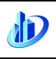 building cityscape construction logo vector image vector image