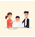 Business team in a work process or parent watch vector image