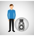 character man movie concept reflex camera vector image