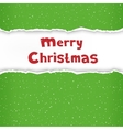 Christmas torn green paper vector image vector image