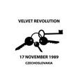 clinking keys - velvet revolution symbol vector image