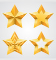 collection stars vector image vector image