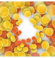 colored confetti for birthday and celebration vector image