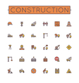Colored Construction Line Icons vector image vector image