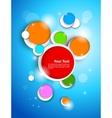 Colorful circles on blue background vector image vector image