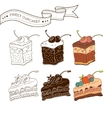 Colorful pastry collection vector image vector image