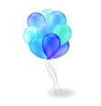 composition of blue ballons vector image vector image