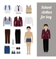 Create school boy kit with different uniforms vector image vector image