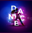 dance with tango dancing couple and vector image