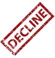 Decline rubber stamp vector image