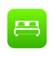 double bed icon digital green vector image vector image