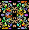 elegance colorful floral seamless pattern vector image vector image