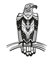 Ethnic ornamented eagle vector image vector image