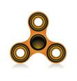 fidget spinner focus toy vector image vector image