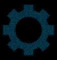 gear composition icon of halftone circles vector image