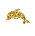 gold glitter dolphin golden sparcle fish vector image