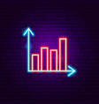 graph neon sign vector image