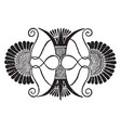 greek motive is a palmettes from a vase vintage vector image vector image
