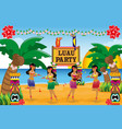 hawaiian luau party vector image