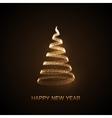 holiday abstract christmas tree vector image
