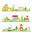 horizontal with various views of vector image vector image