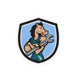 Horse Mechanic Spanner Crest Cartoon vector image vector image