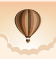 hot air balloon in the sky with clouds flat vector image vector image
